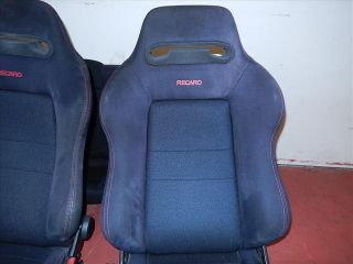 JDM Honda Acura Integra Type R DC2 Black Recaro Seats Red Stitching Front Rear
