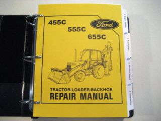 Ford 455C 555C 655C Tractor Backhoe Service Manual