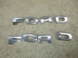 78 79 Ford Truck Hood Emblems Letters 2 Sets Bronco F150 F250 F350 4x4 Parts V8