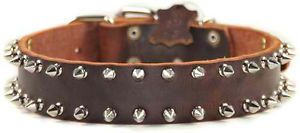 Spike Time Leather Spiked Dog Collar Top Quality by D T