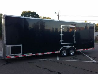 28' Aluminum Enclosed Trailer from Millenium Trailers