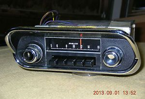1968 68 Ford Mustang Shelby Cougar Am Car Radio 8TPZ Correct Knobs Bezel Works
