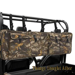 Camo Double Gun Carrier for Yamaha Rhino UTV Roll Cage 2 Rifle Two Shotgun Case