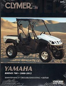 2008 2012 Clymer Yamaha Rhino 700 Side by Side ATV Service Manual New M291
