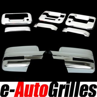 09 12 Ford F150 Chrome Mirror Cover 2 Door Handle Tailgate Cover Keypad Keyhole