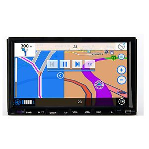 "Double 2 DIN 7"" in Dash Car DVD CD VCD Player GPS Navigation Radio Bluetooth Map"
