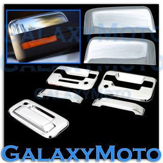 09 13 Ford F150 Chrome Half Mirror 2 Door Handle Keypad PSG KH Tailgate Cover