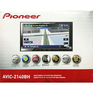 "Pioneer AVIC Z140BH 7"" 2 DIN Receiver w GPS Navigation Bluetooth HD Radio"