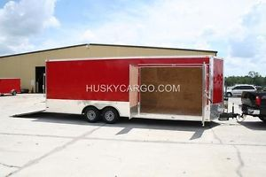 8 5x24 8 5 x 24 Car Hauler Enclosed Cargo Trailer Barn Door Contractor Builder