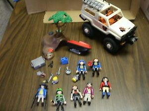 Playmobil Toy Lot Monster Truck Offroad Figures Accessories Police Jetski
