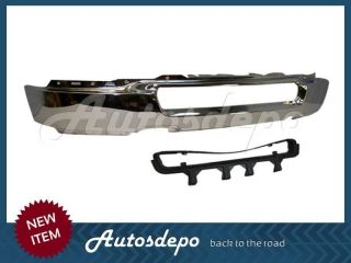 04 05 Ford F150 Pickup Front Steel Bumper Face Bar Chrome Grille w O Fog Hole
