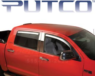 Putco 480143 2009 13 Ford F150 Crew Cab Element Chrome Window Visors Front Rear