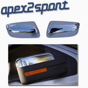 09 10 11 12 Ford F150 Pickup Truck Chrome Door Top Half Mirror Covers Caps Pair