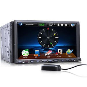 "Erisin ES805G 7"" HD 2 DIN Car Stereo DVD Player BT GPS iPod TV 3D Bluetooth USB"