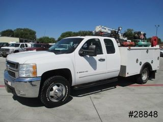 3500 Duramax Diesel 9' Caseco Service Body Utility Crane Dually 4x4 We Finance