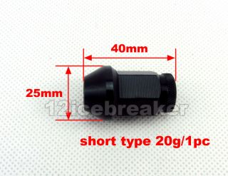 20 M12 x 1 25 Lightweight Black Wheel Rim Racing Lug Nut Screw 40mm Open End