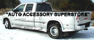 03 08 Dodge RAM Dually Full Flared Running Boards with Molded Fender Flares