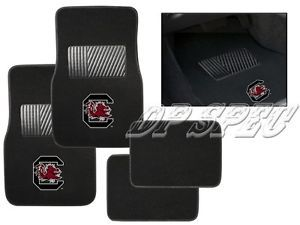 USC South Carolina Gamecocks NCAA 4pcs Carpet Floor Mats Ford Car SUV