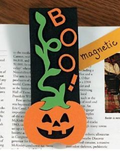 1 Magnetic Halloween Book Mark Craft Kit Great Fun Pumpkin Boo