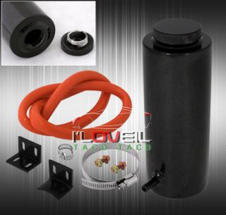 Black Engine Coolant Radiator Overflow Reservoir Tank Honda Civic Del Sol Accord