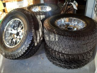 Toyo Off Road All Terrain Tires and Procomp Chrome Wheel Set