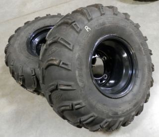 Kawasaki KFX 700 KFX700 ATV Rear Wheels ITP Mud Lite Tires V Force