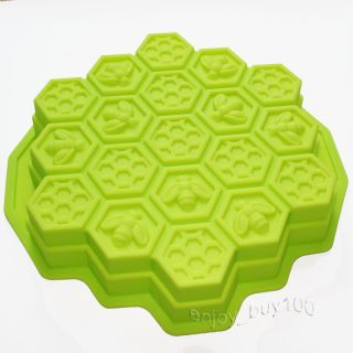 Bees Honeycomb Cake Pan Mold Chocolate Pizza Baking Tray Silicone Mould