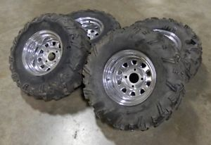 "Kawasaki Brute Force 750 ITP Wheels 27"" Blackwater XT Tires Grizzly Sportsman"