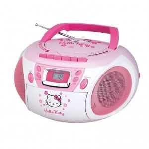 Hello Kitty Kids Girls Portable CD Boombox Cassette Player Recorder Radio New
