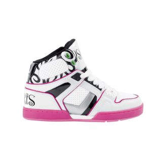 Womens Osiris NYC 83 Slim Ultra Skate Shoe in White/Black/Pink
