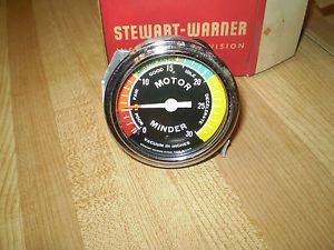 Vintage Stewart Warner Motor Minder Gauge in Box Original