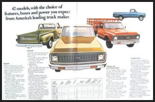 1971 Chevrolet Pickup Truck 4WD Sales Brochure Chevy GM