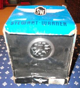 Stewart Warner Deluxe Series Mechanical Water Temperature Gauge SEALED
