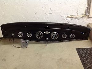 Original 1932 Ford Steel Dash w Stewart Warner SW Gauges Hot Rod Scta