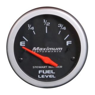 "Stewart Warner Maximum Performance Electrical Fuel Level Gauge 2 1 16"" Dia"