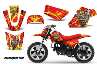 Yamaha PW50 Graphics Kit Decals Samurai Yr