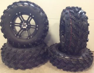 "ITP SS212 14"" Wheels Black 27"" Swamp Lite Tires Honda Rincon Rancher"
