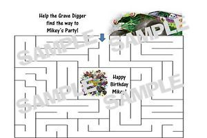 Monster Jam Truck Birthday Party Personalized Maze Game