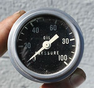 Vintage Stewart Warner Oil Pressure Gauge 2 inch Tested Rat Rod