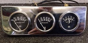 Vintage Stewart Warner Gauges in Eelco Style Gauge Panel 1932 1934 Ford Rat Rod