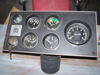 Vintage Stewart Warner Gauge Dash Panel Hot Rod Rat Rod Street Rod Scta