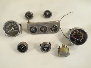 Vintage Stewart Warner Gauges Rat Rod Hot Rod Scta Ford Flathead Camaro Chevelle