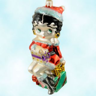 Kurt Adler Polonaiseby Bountiful Betty Boop 2001 Santa Christmas Ornament