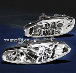 95 96 Mitsubishi Eclipse 97 98 Eagle Talon CCFL Halo Projector Headlight Chrome
