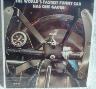 Drag Racing Snake Arrow Stewart Warner Gauge Ad 1977