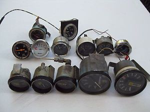 Vintage SW Stewart Warner Stage III 3 Gauges Others Fuel Volts RPM MPH Oil