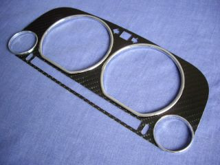 VW Golf 3 MK3 91 99 Carbon Fiber Bezel Chrome Rings Cluster Gauge Speedo Dials