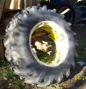 "John Deere 2010 Tractor Firestone Rear Tire Rim Power Adjust 6 9 x 28 ""A"""