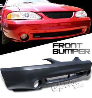 94 98 Ford Mustang GT Front Bumper Cover Cobra Style Polypropylene Finish Kit