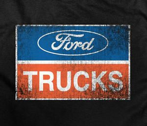 Classic Ford Truck Logo XLG Mens T Shirt